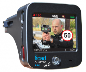 גלאי משולב כולל מצלמת דרך iRoad QUATTRO 4S PRO