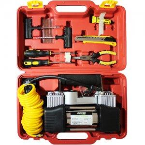 ערכת חילוץ - קומפרסור צילינדר כפול עם ערכת כלים מקצועית